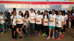 #WomenID team & Aditya Institute of Management Studies and Research students at Bandra Kurla Complex grounds #Mumbai early this morning for DNA I CAN Run Women's Half Marathon Mumbai. #DNAICanRun